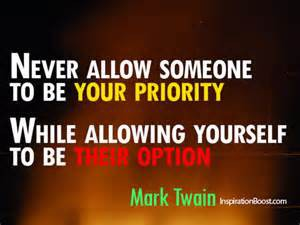 Self priority Mark Twain