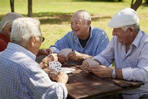 elderly socializing