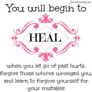 Let go of grudges