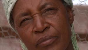 Elderly afro woman