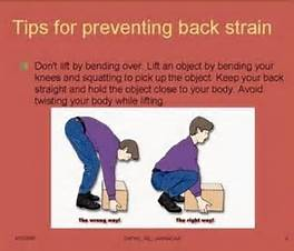 Lifting Tips to prevent lower back pain