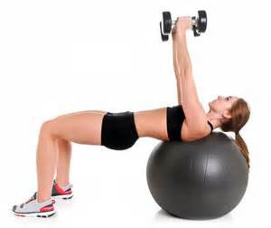 core strength using stability ball