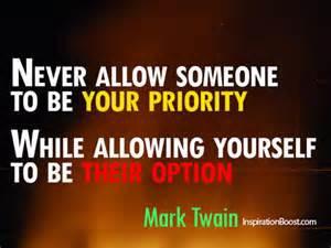 Self priority Mark Twain