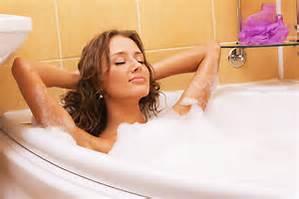 warm bubble bath