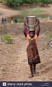 carrying water on headth