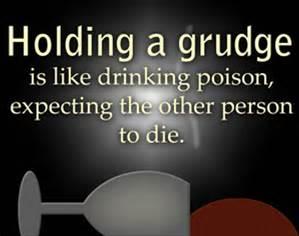 Holding grudges.1