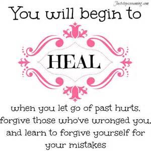 Let go of grudges